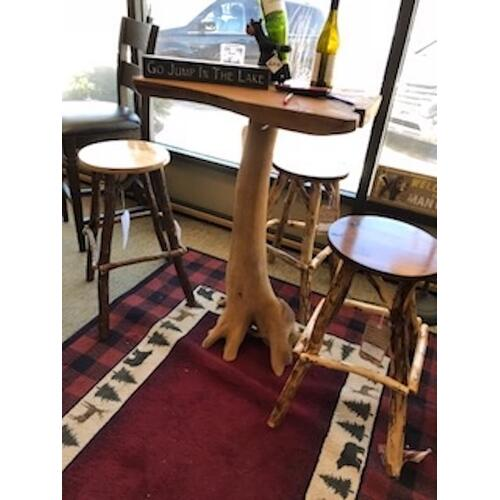 Rustic pub table.