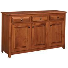 See Details - Sutter Mills Amish Custom 3 Door Buffet