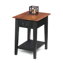 SOLID WOOD Rectangular End Stand in BROWN CHERRY    (1900-05B,57584)