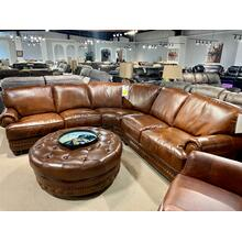 Durango Chestnut Italian Leather Sectional