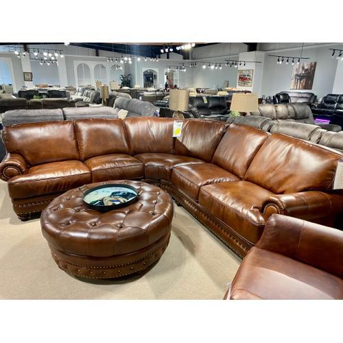 Futura - Durango Chestnut Italian Leather Sectional
