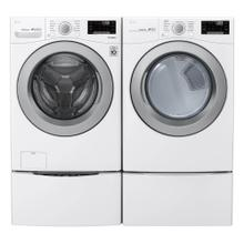 LG 4.5 cu.ft. Ultra Large Capacity Front Load Washer with Coldwash Technology and Wi-Fi Connectivity with 7.4 cu.ft. Ultra Large Capacity Electric Dryer with Sensor Dry, and Wi-Fi Connectivity in White