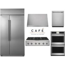 """Cafe Professional 36"""" Gas Rangetop with Built In Refrigerator"""