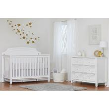 Astoria White 4-in-1 Lifetime Crib