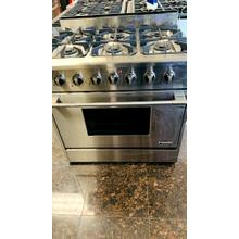 "USED- NXR 36"" Professional Range with Six Burners, Convection Oven, Natural Gas -G36SSSTV-U SERIAL #2"