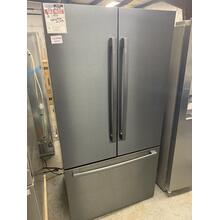 800 Series French Door Bottom Mount Refrigerator 36'' Black stainless steel Counter-Depth **OPEN  BOX ITEM** Ankeny Location