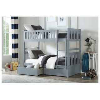 Orion Bunk Bed Twin on Twin with Drawers