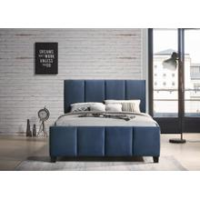 Blue Upholstered bed in Queen