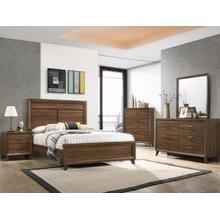 Mid-Century modern brown 4 piece bedroom set
