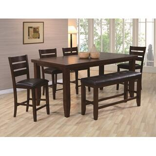 See Details - Bardstown Counter Height 6-piece Dining Set Brown