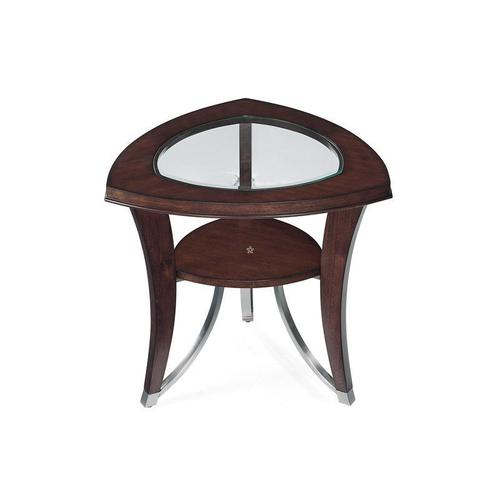 Kayla 2-Piece Cocktail Table and End Table in Cherry Finish