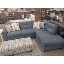 Sensation 2 Pc Sectional W/Ottoman Slate