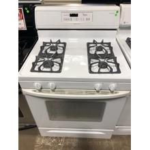 Used White-on-White 30-Inch Self-Cleaning Freestanding Gas Range