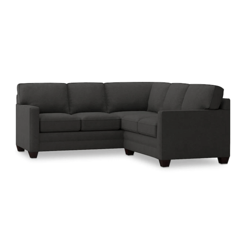 Bassett Furniture - Alex Track Arm Small Sectional - Charcoal