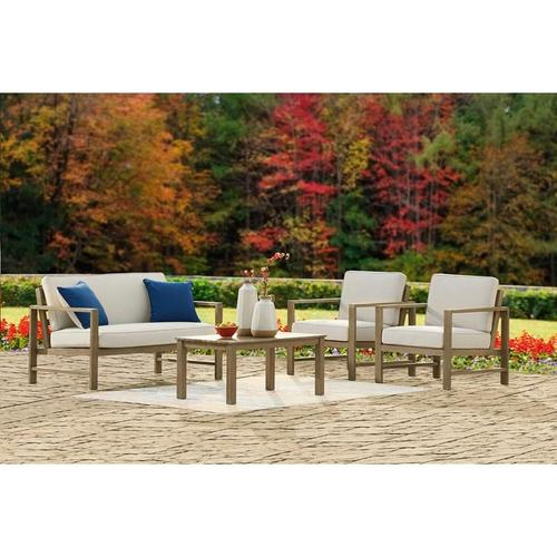 ASHLEY P349-035 P349-820 Fynnegan Outdoor Patio Loveseat And 2 Lounge Chairs (Table Not Included)
