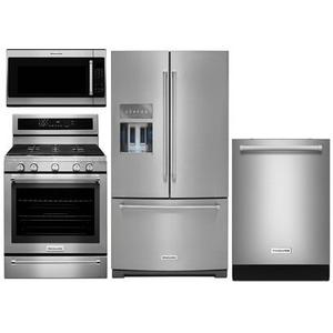 KitchenAid 4-piece Stainless Steel Appliance Package With Gas Range