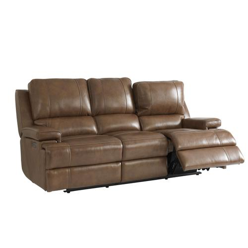 Bassett Leather Power Reclining Sofa