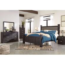 Reylow - Queen Poster Bed, Dresser, Mirror, 1 X Nightstand