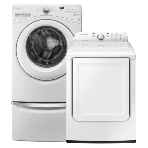 4.2 cu. ft. Front Load Washer & 7.2 cu. ft. Electric Dryer in White- Minor Case Imperfections