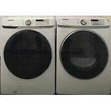 See Details - Samsung 4.5 cu. ft. Front Load Washer with Steam & 7.5 cu. ft. White Electric Dryer with Steam