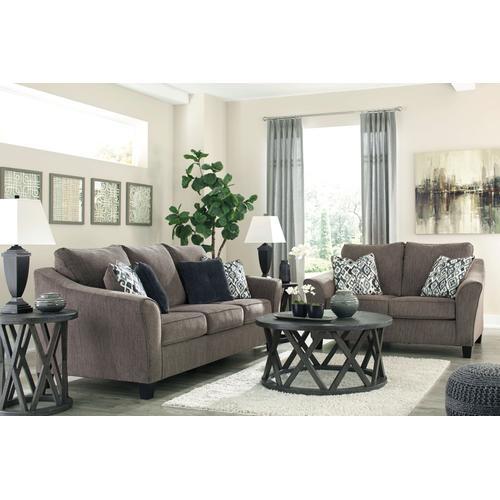 458063  Sofa and Loveseat - Nemoli Slate