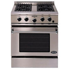 "Professional 30"" Gas Range with 4 Burners 15,000 BTU Infrared Broiler Convection Oven"