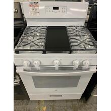 "GE® 30"" Free-Standing Gas Range in White **OPEN BOXITEM** Ankeny Location"