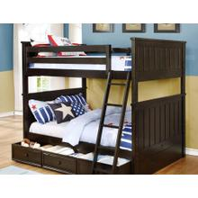 Belfort Full over Full Bunk Bed with Summerlin Trundle - Graphite Grey