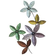 Multi Color Flower Metal Wall Art