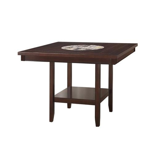 Crown Mark - Fulton, 6 Pc Espresso Counter Height Dinette Set by Crown Mark, Model 2727