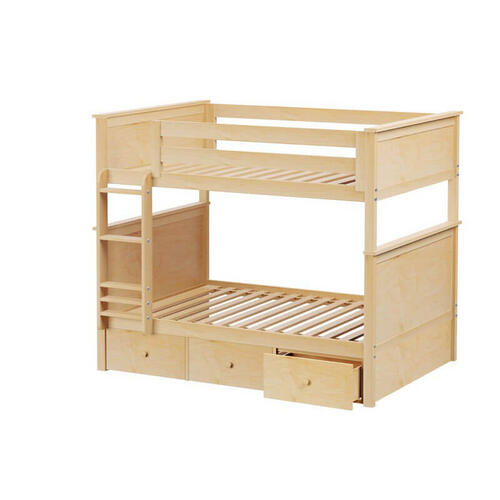 Jackpot Kent Full/Full Bunk   3 Drawer Storage In Natural Finish