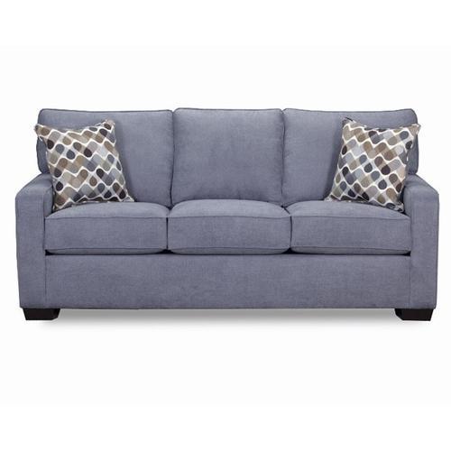 Simmons Upholstery - UNITED 9025 Mia Denim Queen Sleeper
