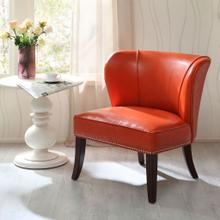 See Details - ARMLESS ACCENT CHAIR - ORANGE