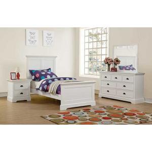 Tamarack White Twin Panel Bed
