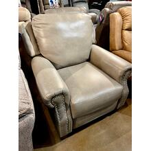 View Product - Leather Power Hi-Leg Recliner
