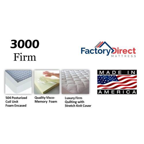 Factory Direct Mattress - 3000 - Firm