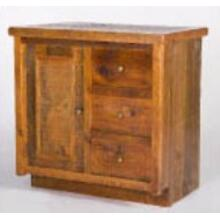 Stony Brooke 1 Door 3 Drawer Vanity with Wood Top