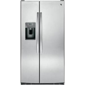 GE Appliances - 25.3 CF Side By Side Refrigerator