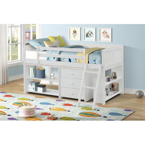 Lifestyle - LIFESTYLE CB814W-JX7 CB814W-JQX CB814W-JXS CB814W-JXC Abigail Twin Loft Bed with Storage