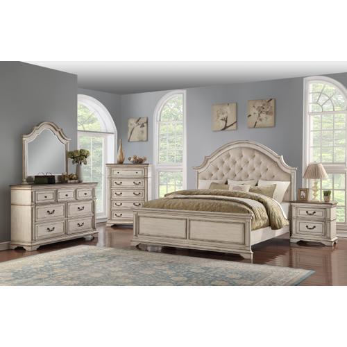 Packages - New Classic 4 Pc Queen Bedroom Set, Anastasia B1731