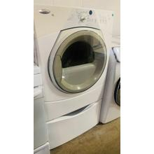See Details - USED- White w/ Gray Accents Duet Sport® Electric Dryer - FLDRYE27W-U  SERIAL #123