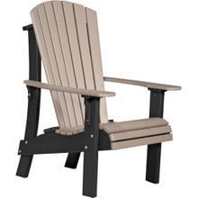 Royal Adirondack Chair Weatherwood and Black