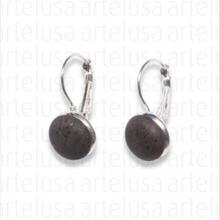 Black cork earrings