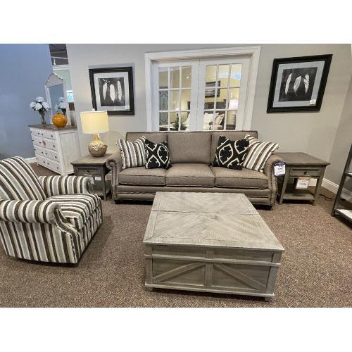 Mayo Furniture - Zenith Tobacco Sofa with Nailhead Trim