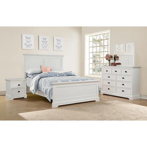 Tamarack White Queen Panel Bed