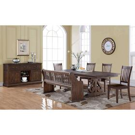 San Juan Trestle Dining Table with Butterfly Leaf