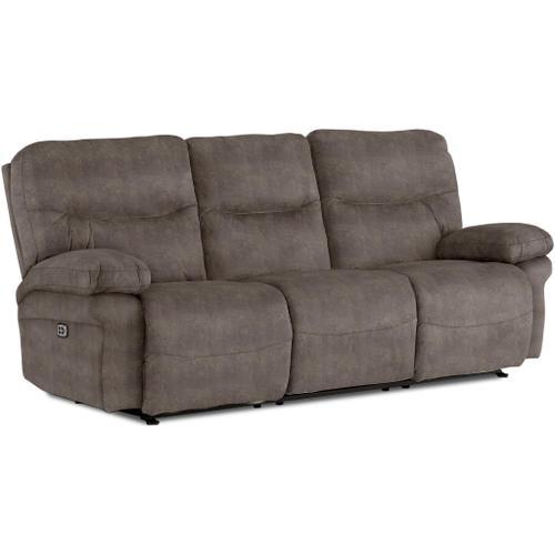 Best Home Furnishings - LEYA SOFA Power Reclining Sofa with Power Headrest in Elk Fabric