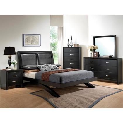 Galinda Queen Bed, Dresser, Mirror, Nightstand and Chest