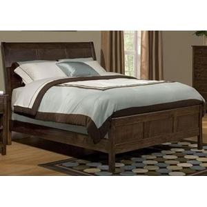 King Shaker Sleigh Bed-Unfinished