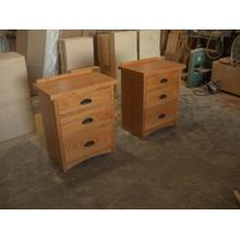 Mission Three Drawer Night Stands